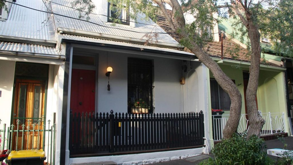 Old terrace house at 5 Hegarty Street Glebe